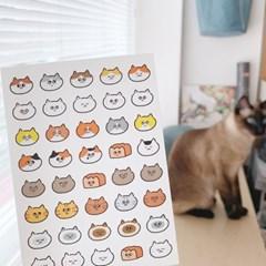 [버숨] 고양이얼굴_스티커