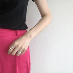 [925실버] 트리플 에르 반지 triple her ring