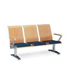 [스코나베이직]우드린 B형 3인 등유 양팔 도금 의자_(602728773)