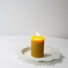 [Honey Bees Candle] 스크류 밀랍초
