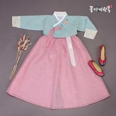 [복주머니 증정] 꽃다비 갈포소라 여아 한복