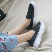 kami et muse Gray line point leather slip on_KM19s375