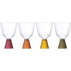 킨토 페스타 와인 글라스 4개 세트 - 블랙_(1422620)