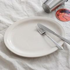 시라쿠스 오벌 플레이트 2 size 타원형 브런치 카페 접시