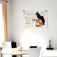 패브릭 포스터 F313 일러스트 그림 액자 빈티지 고양이