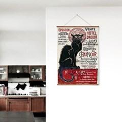 패브릭 포스터 F309 빈티지 고양이 그림 액자 레트로 캣