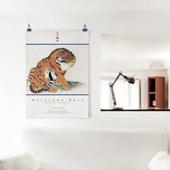 패브릭 포스터 F304 인테리어 그림 현관 액자 호랑이 B