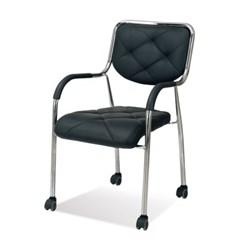 111 밀대 회의의자 휴게실의자 등받이의자 바퀴형_(1378174)