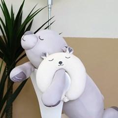 말랑 심쿵 목베개
