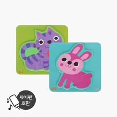 사운드 아기 자석퍼즐(고양이+토끼)