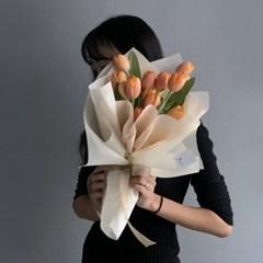 [생화] 망고 튤립(10송이) 꽃다발