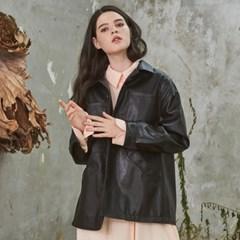 Grace Short Leather Jacket Black