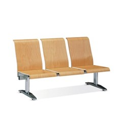 [스코나베이직]우드린 C형 3인 등유 도금 의자_(602729251)