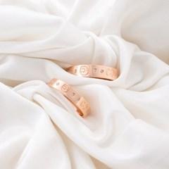 14k 반지 스컬 하트 커플링