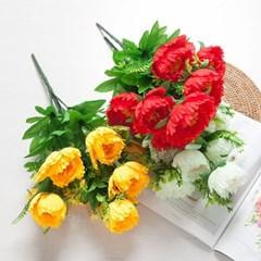 9대함박꽃부쉬 50cm 조화 성묘 꽃 인테리어 FAGAFT_(1424805)