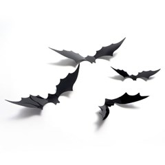 할로윈 PVC 3D 박쥐데코 12개세트_(11796784)