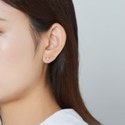 [SET] 리본 귀걸이 + 큐빅 귀걸이
