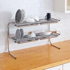 설거지건조대 씽크대 주방 접시거치대 2단 물빠짐선반 6종