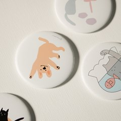 뒹굴뒹굴 강아지 원형 손거울