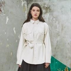 Classy Standard Leather Jacket Ivory