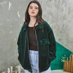 Cozy Velvet Short Jacket Green