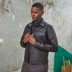 M-Charming Leather Short Jacket Black
