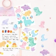 마넷  사각 투명 스티커 - Dino