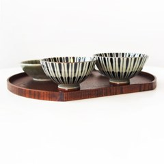 라인 도자기 공기대접 세트 (밥그릇, 국그릇)