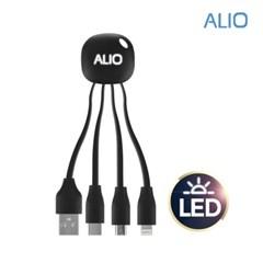 알리오 메두사 LED 3in1 멀티 충전케이블_(1072077)