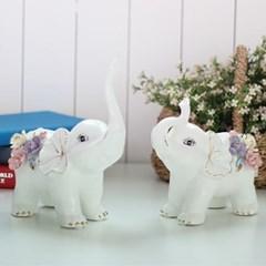 칼라 꽃 코끼리 2P세트