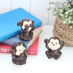도자기 원숭이 3P세트