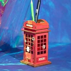DIY 3D 펜홀더 입체퍼즐 - 공중 전화_(1145368)