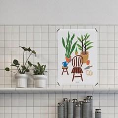 유니크 인테리어 디자인 포스터 M 식물생활 12종 모음 택1 보태니컬