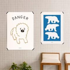 유니크 인테리어 디자인 포스터 M 동물농장 15종 모음 택1