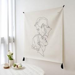 키스 드로잉 패브릭 포스터 / 가리개 커튼