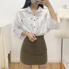 마쉬옐로우 안토니 심플 베이직 포켓 셔츠 (2colors)