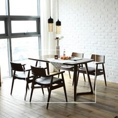 빌치 고무나무 원목 4인 식탁 테이블 1400_(1265106)
