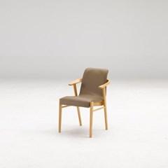 커키 고무나무 원목 식탁 의자 A타입_(1265080)