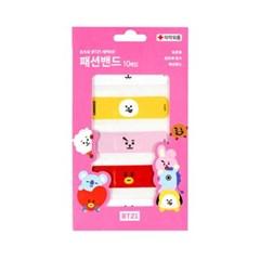 우주스타 BT21 패션밴드 핑크 10개