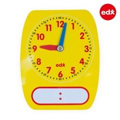 [EDX] 쓰고지우는 시간학습 모형시계 학생용 5개 1세트 (25615)