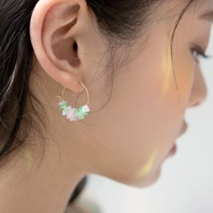 sunny green ring earrings