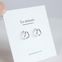Silver wave earring [92.5 silver]