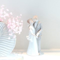 세라믹 웨딩 커플 장식_(1691671)