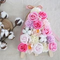 비누꽃 축하 미니화환