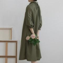 [Fabric] 코튼폴리 혼방 솔리드 카키 Blending Solid Olivine Kahki