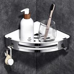 [아토소] 스테인레스 욕실 정리 코너 일자 선반