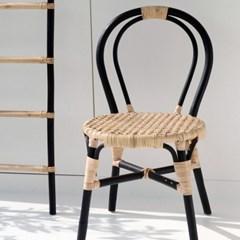 원목 라탄 인테리어 의자