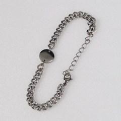 남자 팔찌 써지컬 스틸 코인 체인 SC bracelet_(997975)