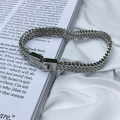 남자 팔찌 실버 써지컬 스틸 패션 Suit bracelet_(997973)