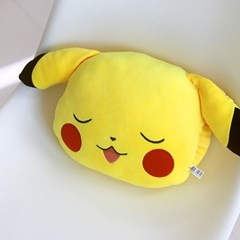포켓몬 얼굴형 낮잠쿠션-피카츄